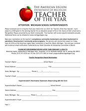 Teacher Of The Year Nomination: Teacher,