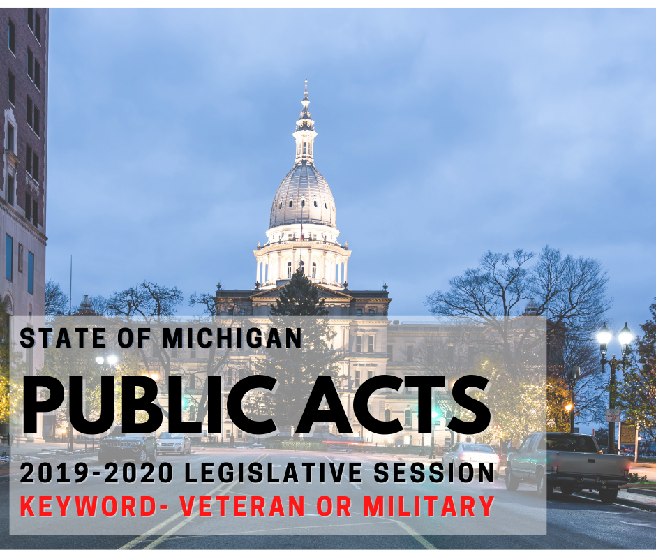Veteran State Legislation Signed into Law 2019-2020