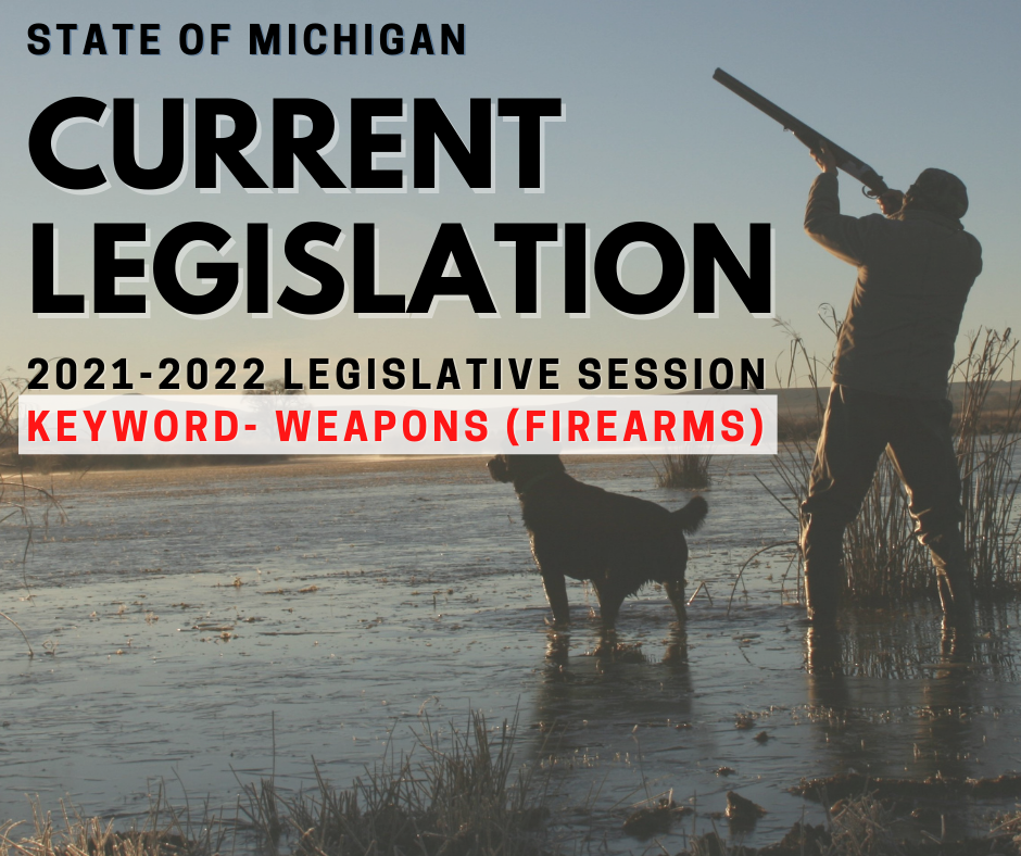 Current State Legislation Firearms/Weapons