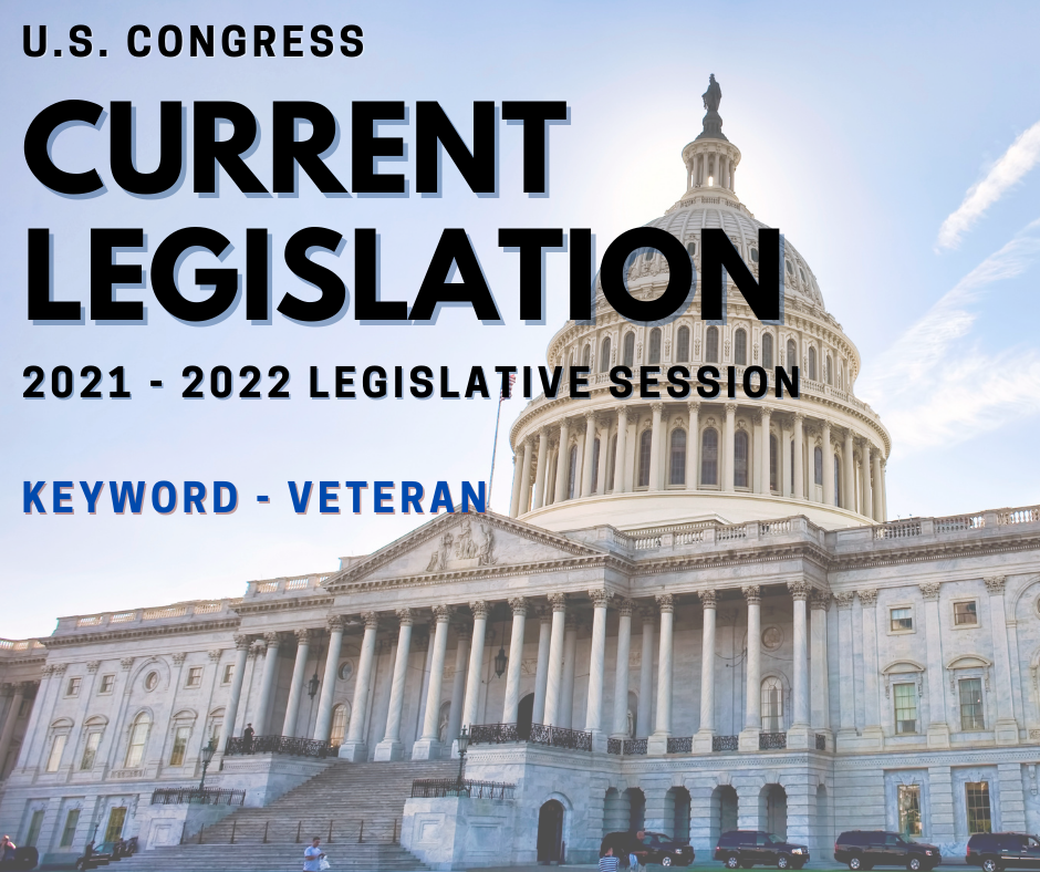 Current US Congress Legislation Veterans
