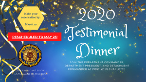 The Testimonial Dinner Date Has Changed!